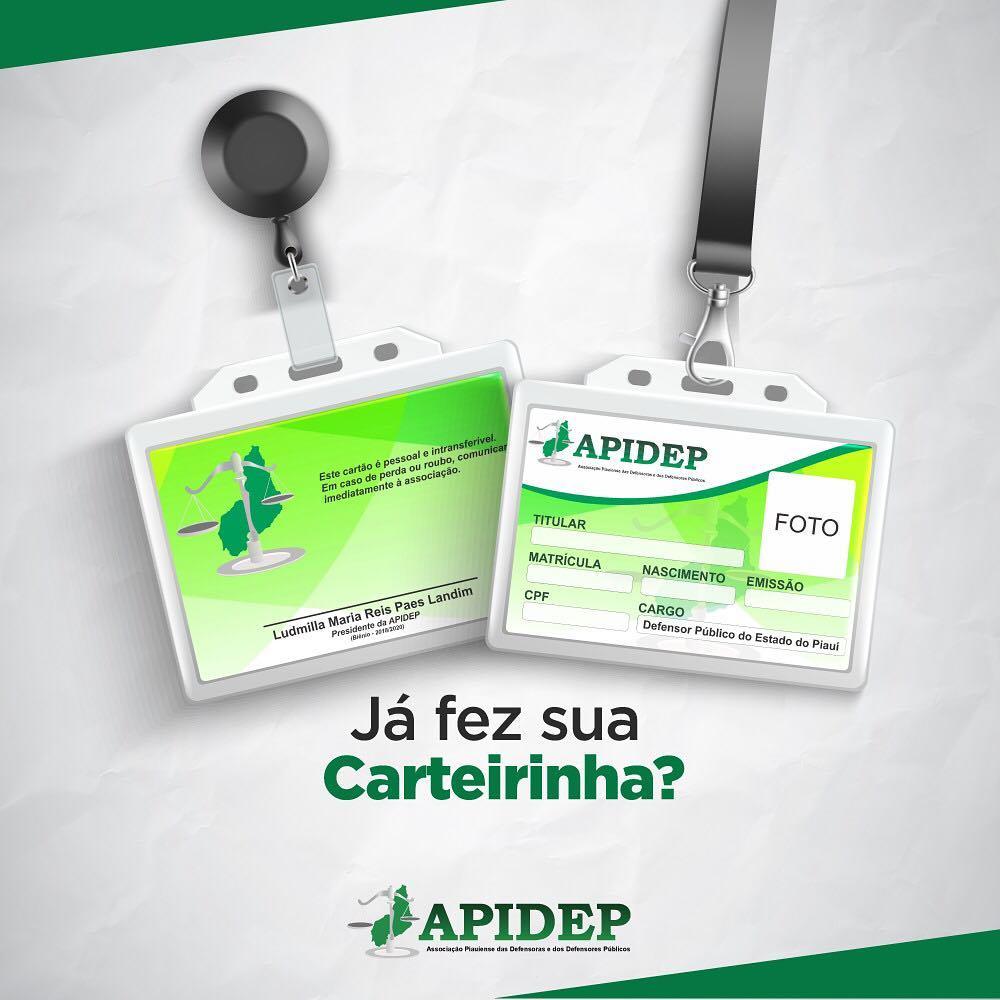 APIDEP disponibiliza emissão de carteirinhas para associadas e associados