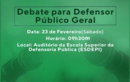 APIDEP realiza debate entre candidatos ao cargo de Defensor Público Geral
